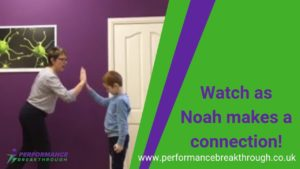 Watch as Noah makes a connection!