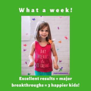 Happy girl excellent results major breakthroughs