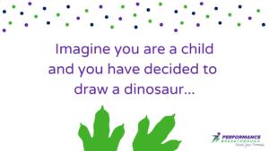 Drawing a dinosaur