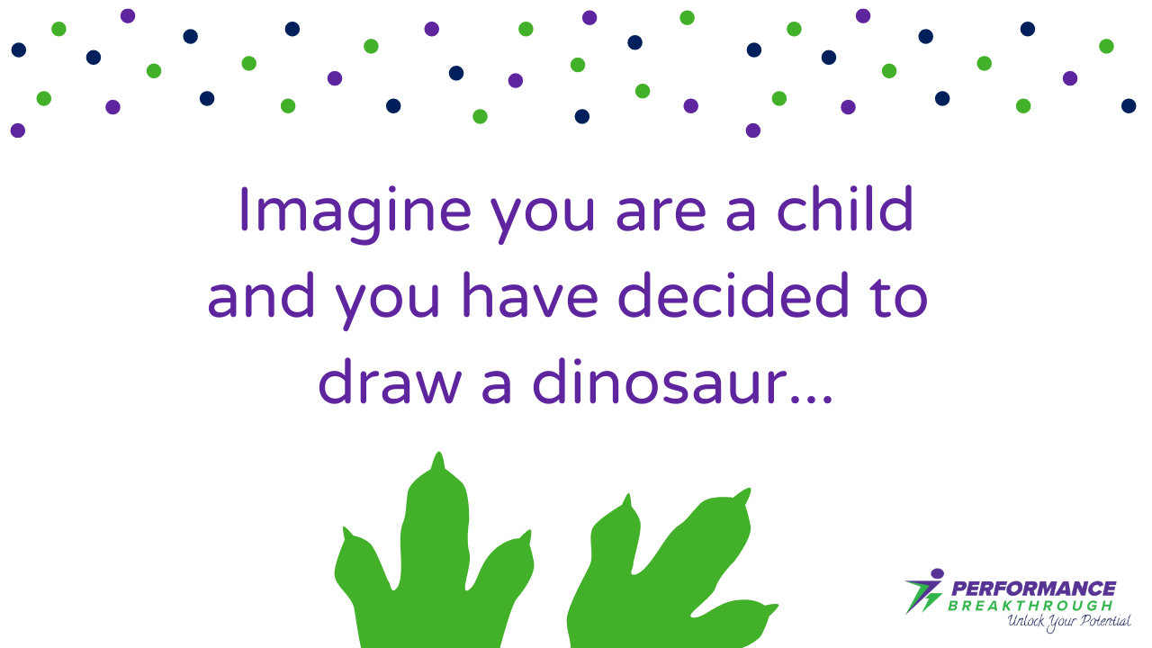 Drawing a dinosaur