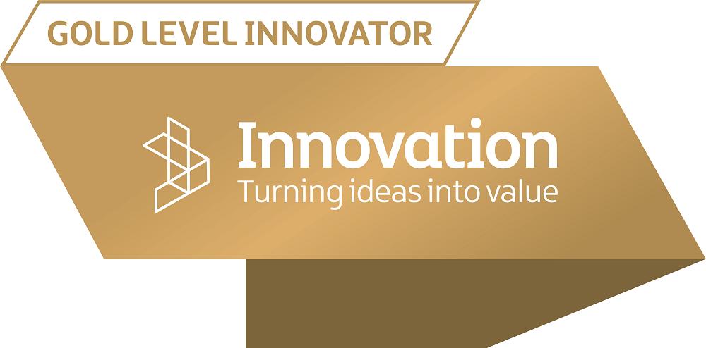 Gold Innovator Award Smaller Gold Innovator Stamp